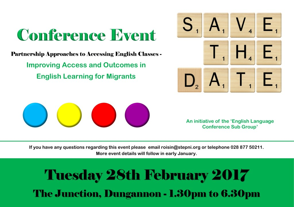 Save The Date -  ESOL Conference @ The Junction | Northern Ireland | United Kingdom