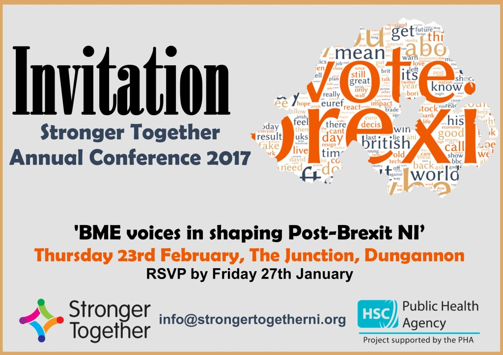Stronger Together Annual Conference 2017 @ The Junction | Northern Ireland | United Kingdom