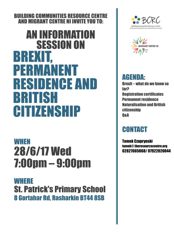 Brexit Information Session @ St Patrick's Primary School | Rasharkin | Northern Ireland | United Kingdom