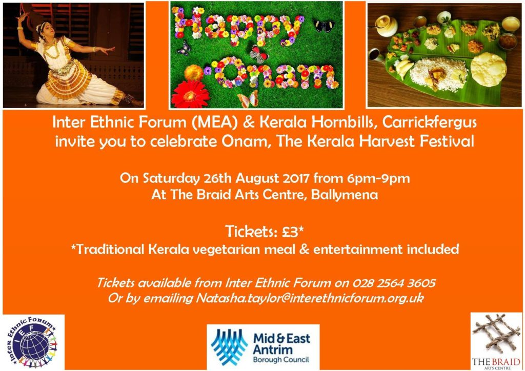 Onam - The Kerala Harvest Celebrations - Ballymena @ The Braid Arts Centre | Ballymena | Northern Ireland | United Kingdom