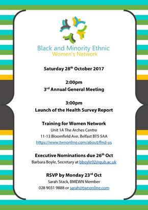 BME Women's Network AGM - Belfast @ Unit 1A The Arches Centre | Northern Ireland | United Kingdom