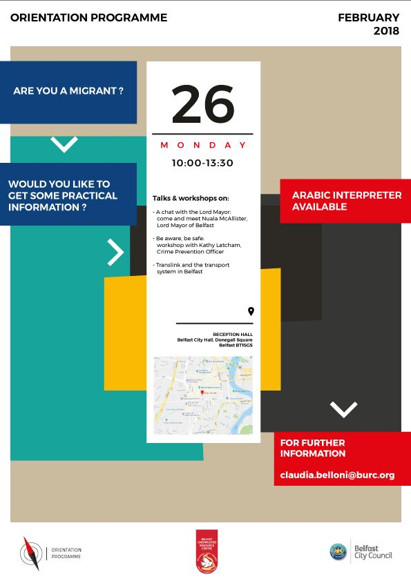 Orientation Programme @ Reception Hall, City Hall   Belfast   Northern Ireland   United Kingdom