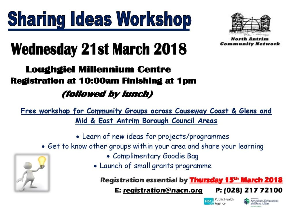 North Antrim Community Network - Sharing Ideas Workshop @ Loughgiel Millennium Centre | Northern Ireland | United Kingdom