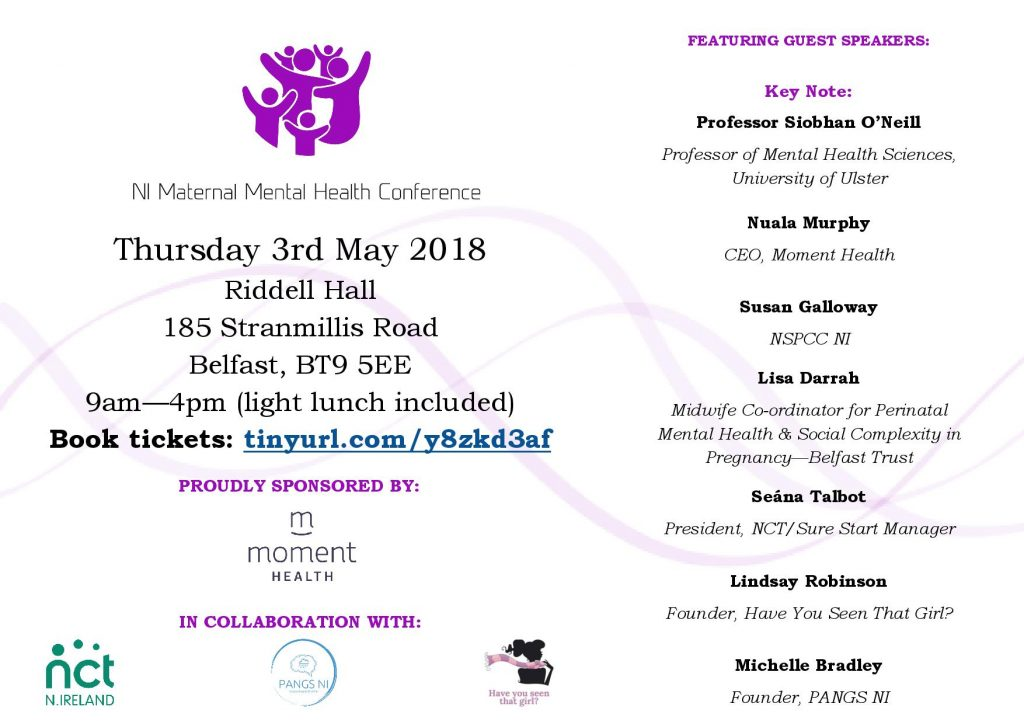 NI Maternal Mental Health Conference, May 2018 @ Riddell Hall | Northern Ireland | United Kingdom
