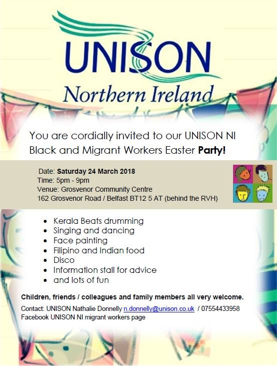 UNISON Easter Party 24-03  Belfast @ Grosvenor Community Centre | Northern Ireland | United Kingdom