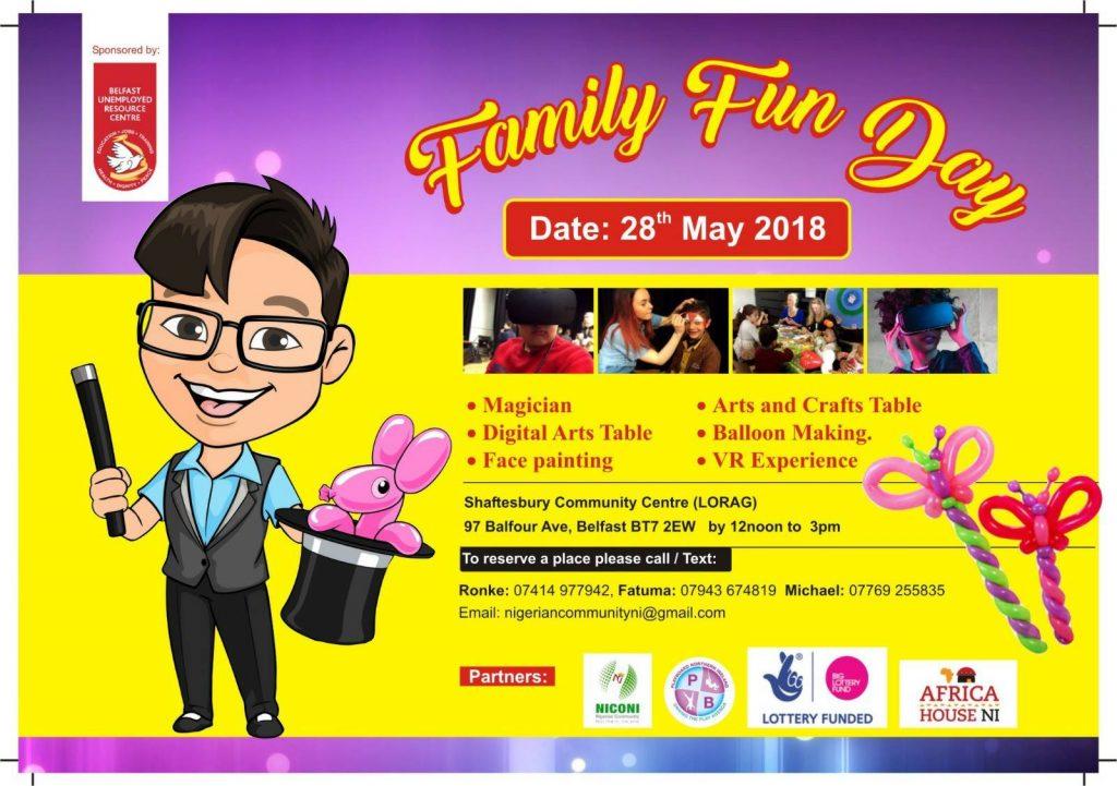 NICONI Family Fun Day - Belfast @ Shaftesbury Community & Recreation Centre | Northern Ireland | United Kingdom
