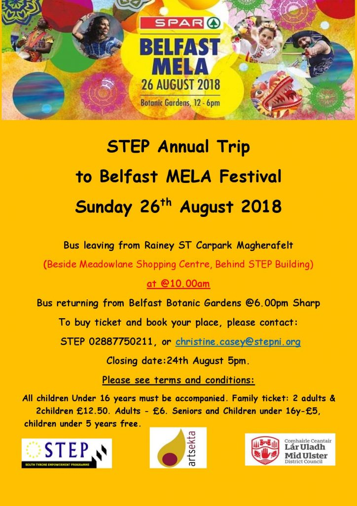 STEP Mela Bus Trip from M'felt & Cookstown @ Botanic Gardens | Belfast | Northern Ireland | United Kingdom