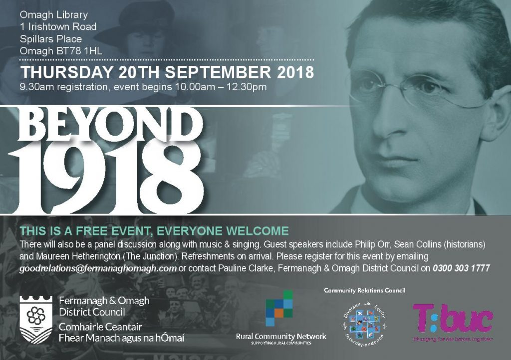 Beyond 1918 Conference - Omagh @ Omagh Library | Northern Ireland | United Kingdom