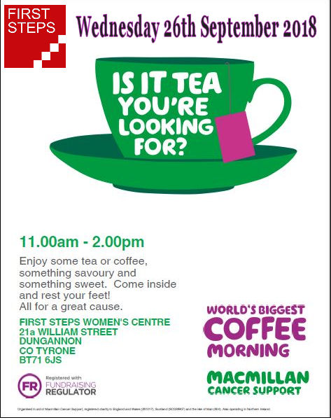 First Steps Centre Tea & Coffee Morning - Dungannon