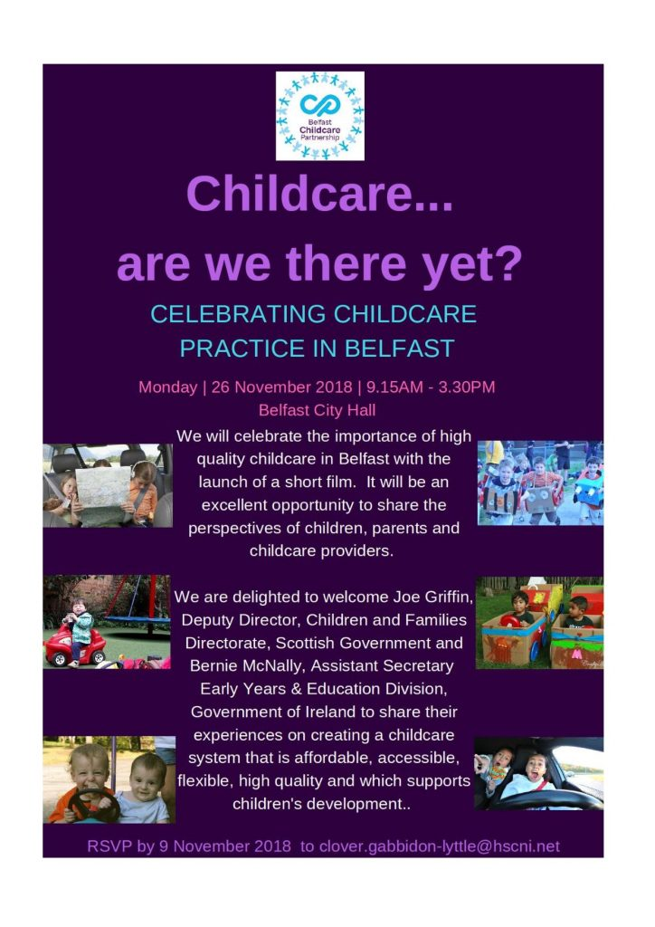 Celebrating Childcare Practice in Belfast Event @ Belfast City Hall | Belfast | Northern Ireland | United Kingdom