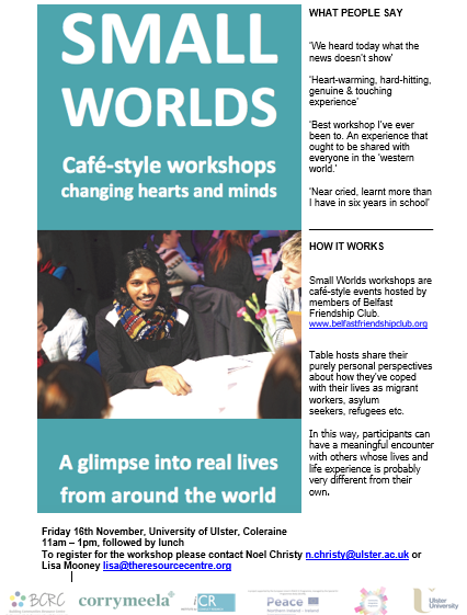 Small Worlds Conversation Cafe - Coleraine @ University of Ulster | Coleraine | Northern Ireland | United Kingdom