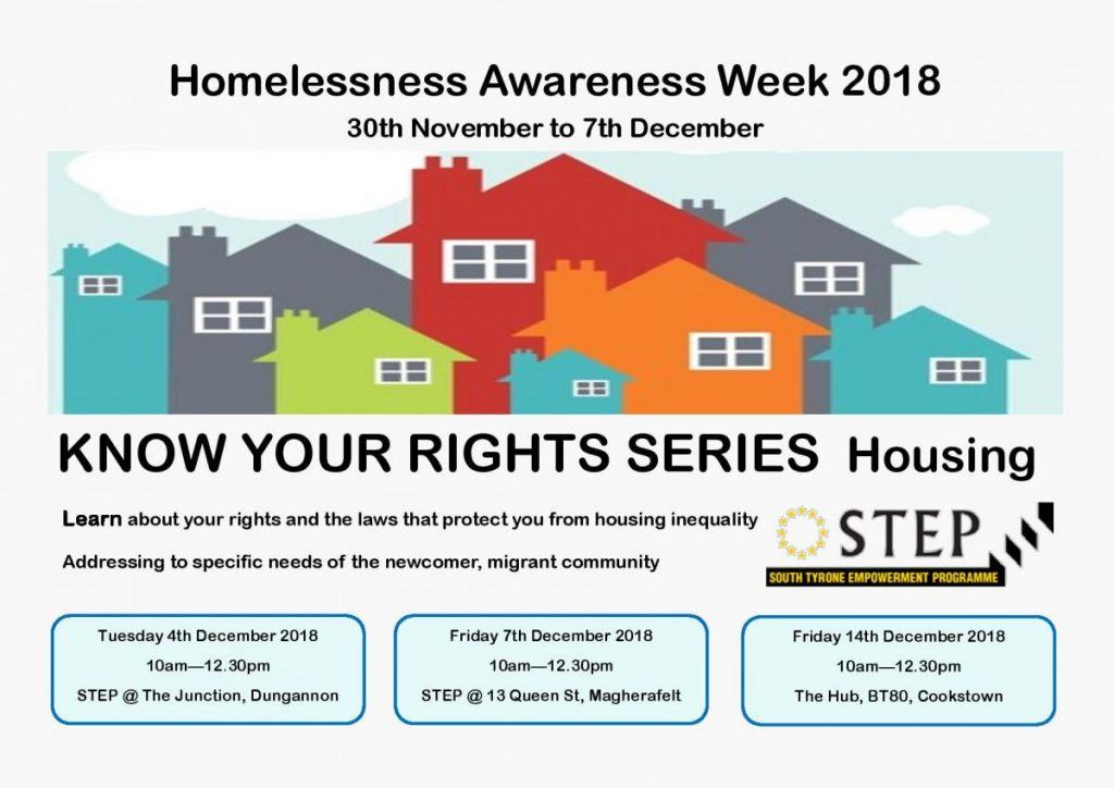 Know Your Rights Session HOUSING - Cookstown @ The HUB BT80 | Northern Ireland | United Kingdom