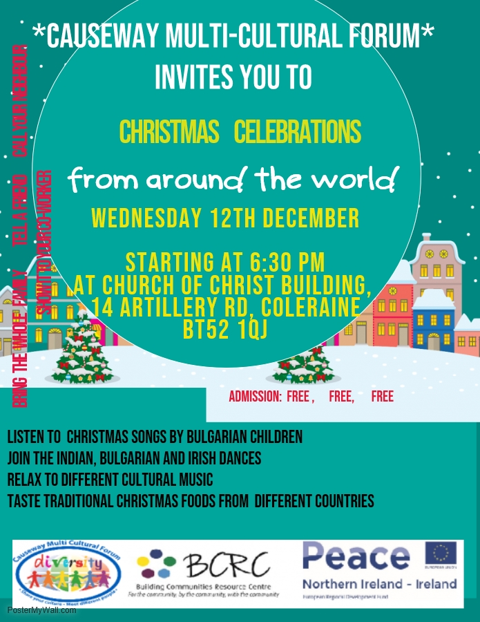 Christmas Celebrations Around the World - Coleraine @ Church of Christ