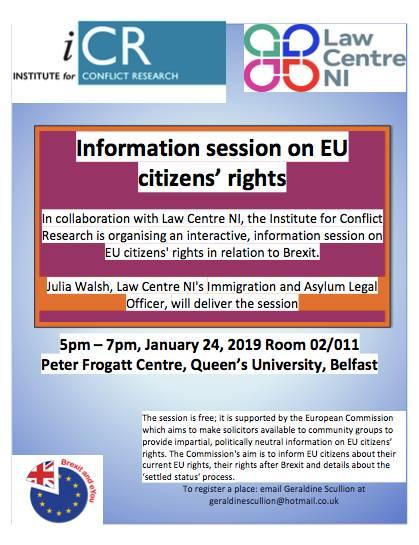 EU Citizens' Rights Information Session - Belfast @ Peter Frogart centre