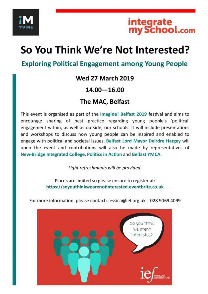 'So You Think We're Not Interested' Event - Belfast @ The MAC