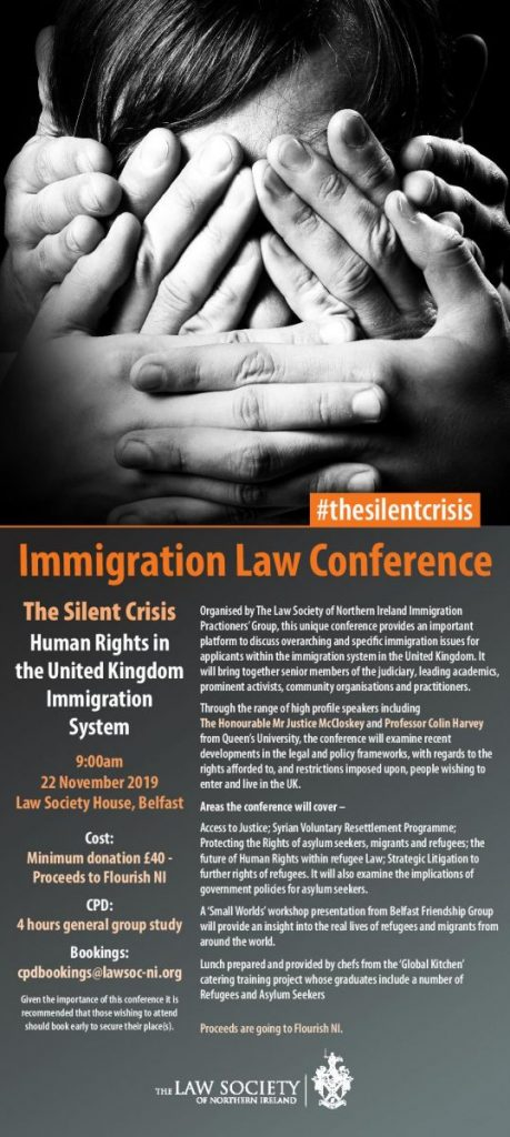 Immigration Practitioners Group Annual Conference - Belfast @ Law Society House
