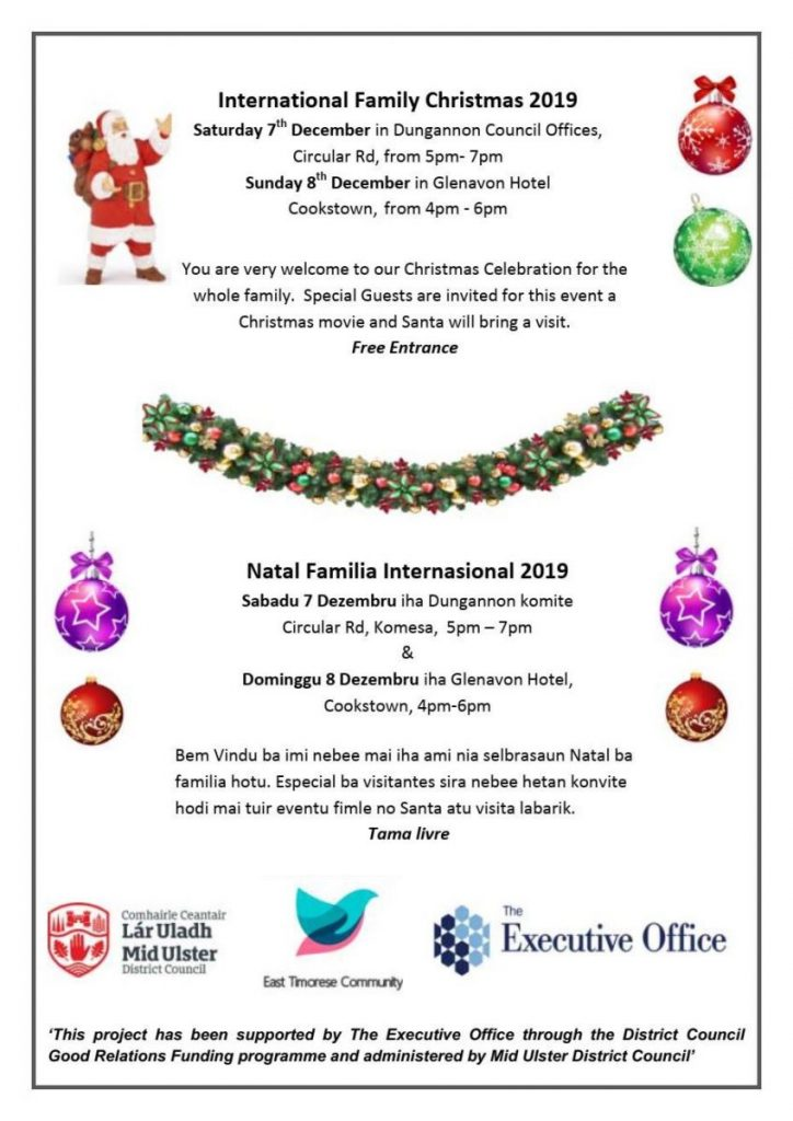 International Christmas Event - Cookstown @ Glenavon House Hotel
