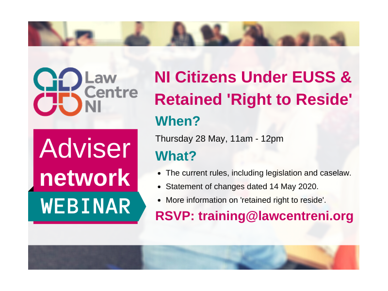 Law Centre NI Webinar