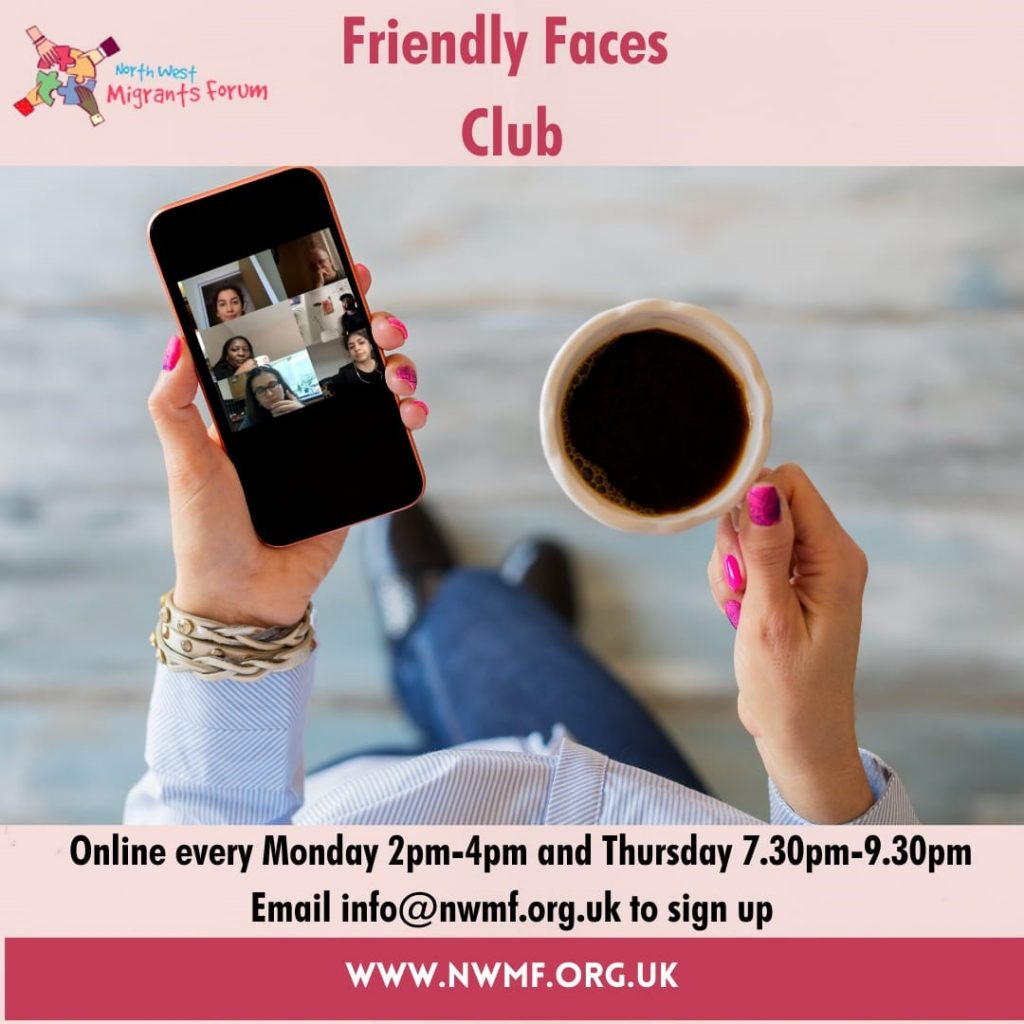 NWMF Friendly Faces Club - Thur Session @ Online