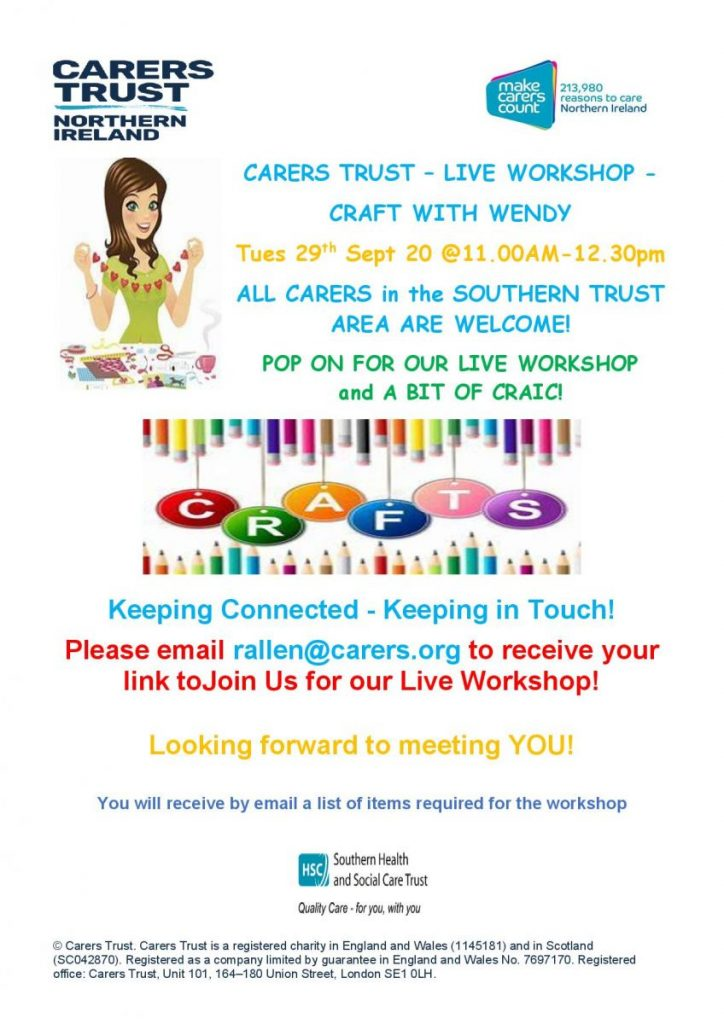 Carers Trust Live Workshop @ zoom