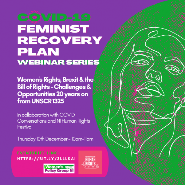 COVID-19 Feminist Recovery Plan Webinar Series