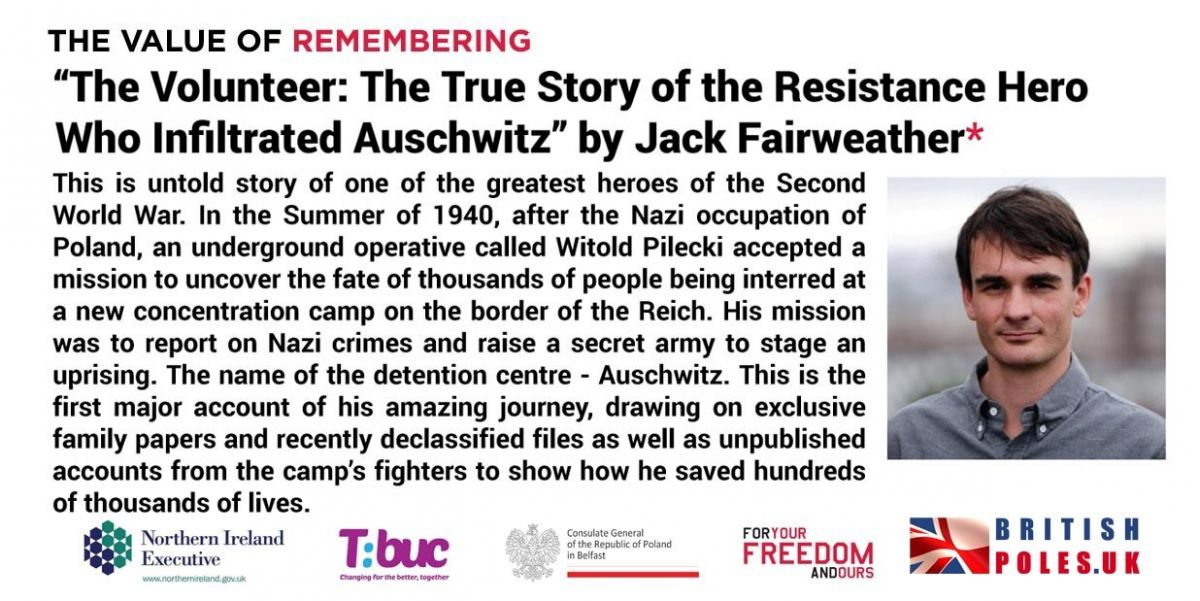 """The Volunteer: The True Story of the Resistance Hero Who Infiltrated Auschwitz @ Online Event"