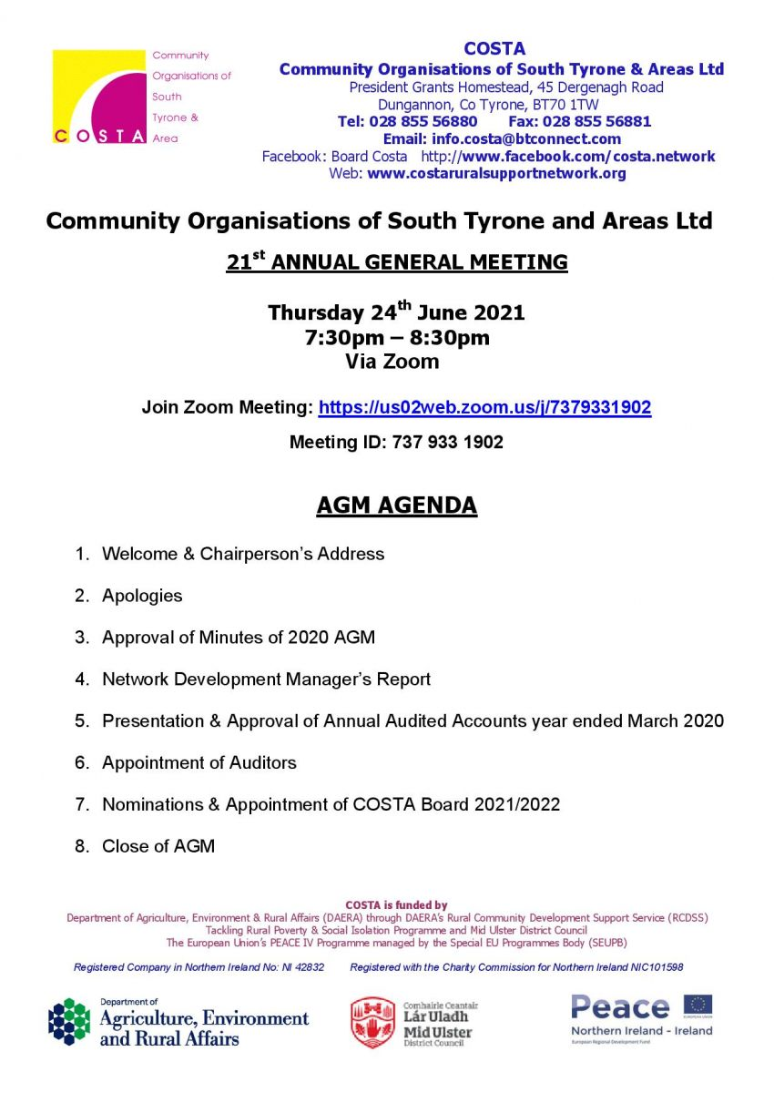 COSTA - 21st Annual General Meeting