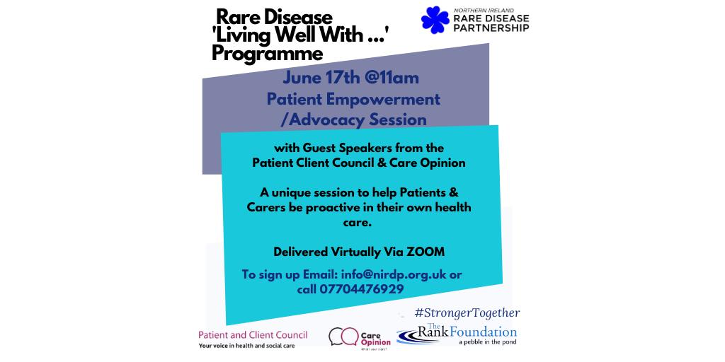NI Rare Disease Partnership - Patient Empowerment / Advocacy Session