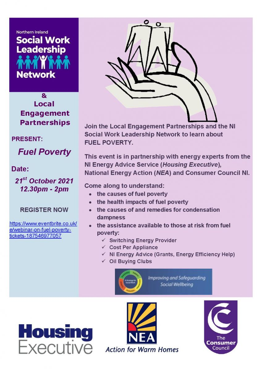 NI Social Work Leadership Network and Local Engagement Partnerships Webinar on Fuel Poverty.